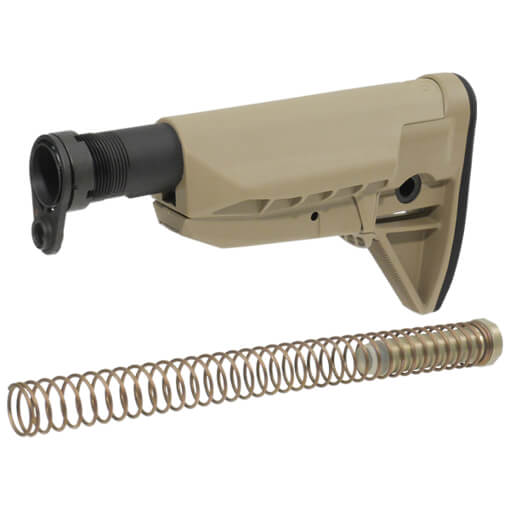 BCM Gunfighter Mod 0 SOPMOD Stock Kit - Widebody - Dark Earth