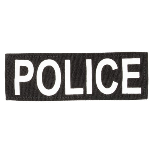 """Protech Tactical Small Police ID Patch 6""""X2""""  Black w/ White Letters"""