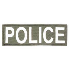 """Protech Tactical Small Police ID Patch 6""""x2""""  Olive Green w/ White Letters"""
