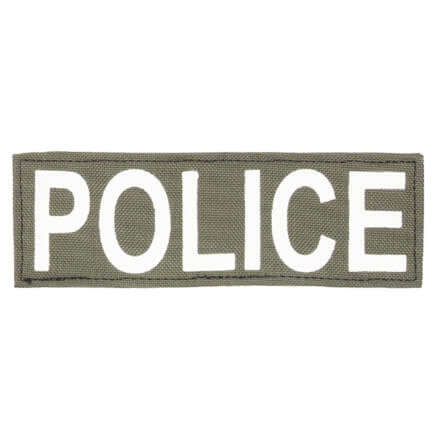 "Protech Tactical Small Police ID Patch 6""x2""  Olive Green w/ White Letters"