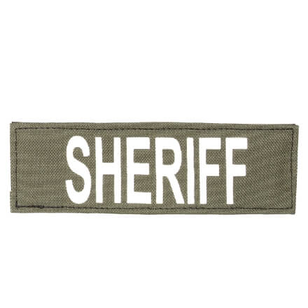 """Protech Tactical Small Sheriff ID Patch 6""""X2""""  OD Green w/ White Letters"""