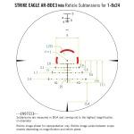 Vortex Strike Eagle 1-8x24 AR-BDC3 Reticle MOA
