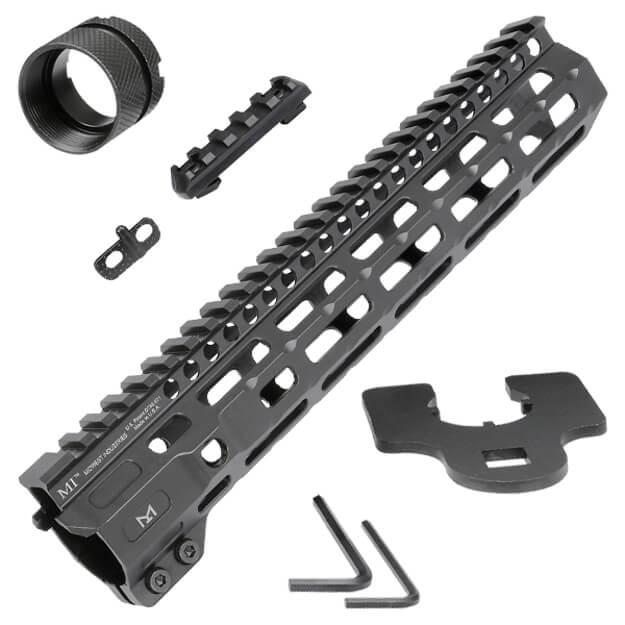 "Midwest Industries 10.5"" Combat Rail M-Lok Handguard - Black"