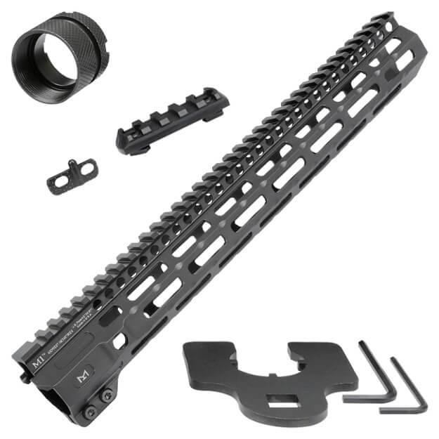 "Midwest Industries 14"" Combat Rail M-Lok Handguard - Black"