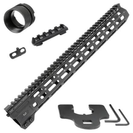 "Midwest Industries 15"" Combat Rail M-Lok Handguard - Black"
