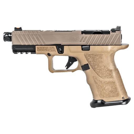 Zev OZ9 Pistol Compact FDE Slide w/ Black Threaded Barrel