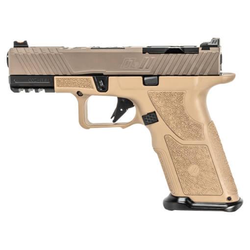 Zev OZ9c Pistol w/ X Grip and Compact FDE Slide