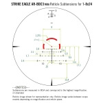 Vortex Strike Eagle 1-8x24 AR-BDC3 Reticle MOA w/ Midwest Ind 30MM QD Mount