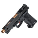 Zev OZ9 Pistol Standard Size - Black w/ Bronze Threaded Barrel