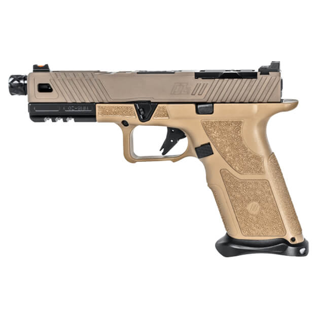 Zev OZ9 Pistol Standard FDE Slide w/ Black Threaded Barrel