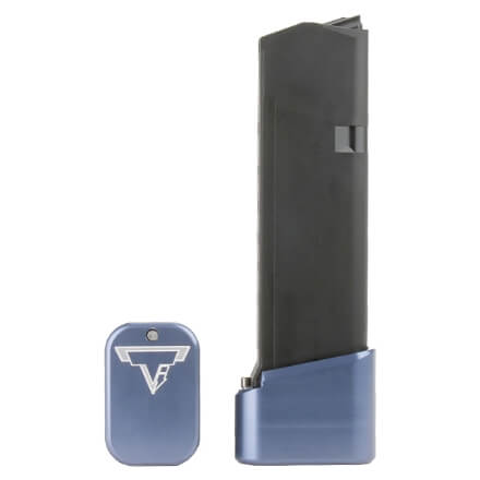 Taran Tactical Glock 19 +2/+3 Base Pad - Titanium Blue