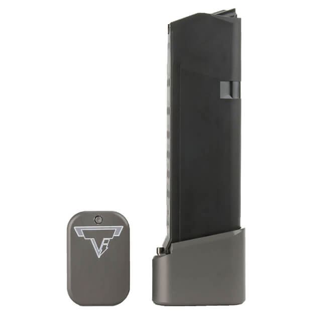 Taran Tactical Glock 19 +2/+3 Base Pad - Titanium Gray