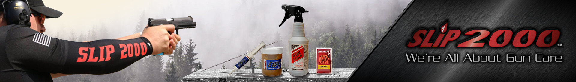 SLIP 2000 the absolute best, safest and most cost-effective gun care product line the Gun industry.