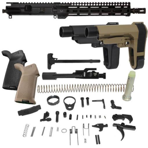 """SBA3 Pistol Build Kit w/ DSG 11.5"""" 5.56MM Duty Series Upper w/ G4 M-LOK Rail"""