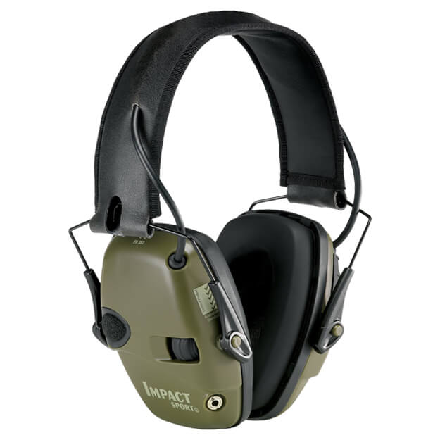 Howard Leight Impact Sport Electronic Earmuff - Hunter Green