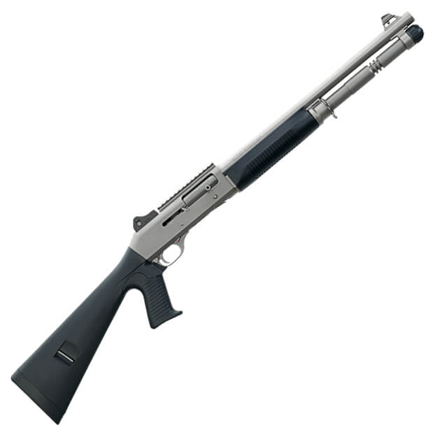 "Benelli 11794 M4 18.5"" Pistol Grip - Ghost Ring Night Sights - H2O Titanium Cerakote - 5rd Magazine"