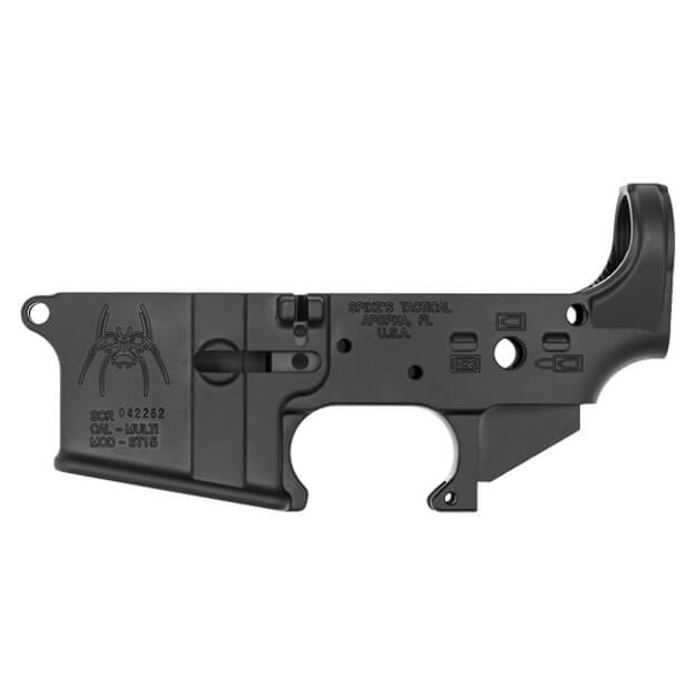 Spikes Tactical Stripped AR15 Lower Receiver w/ Spider Logo and Bullet Markings