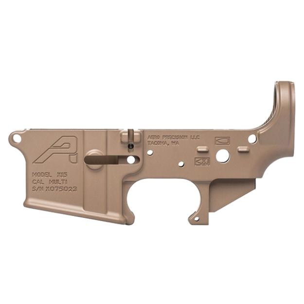 Aero Precision AR15 Lower Receiver Gen 2 - FDE Cerakote