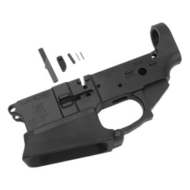 Lancer L15 Stripped Forged Lower w/ Tactical Mag Well Extension