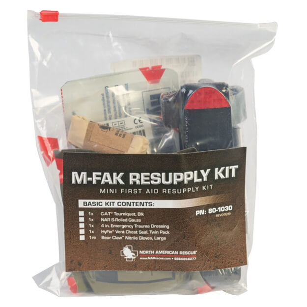 North American Rescue M-FAK Resupply Kit