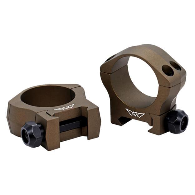 Warne 30mm Mountain Tech Low Burnt Bronze Rings