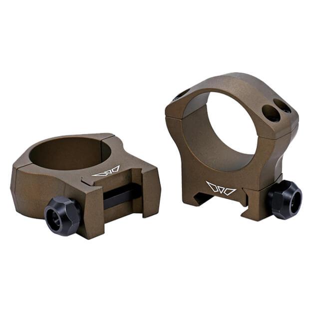 Warne 30mm Mountain Tech Medium Burnt Bronze Rings