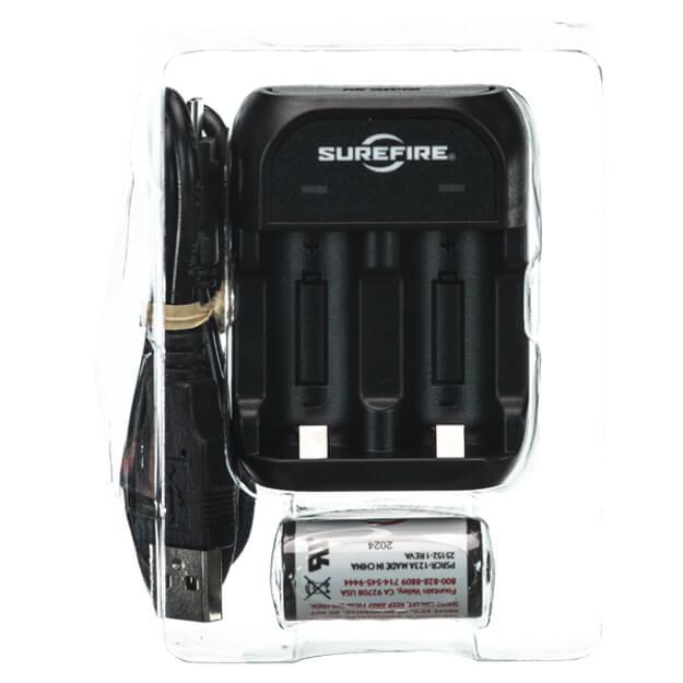 Surefire 123A Rechargeable Batteries Kit w/ Charger