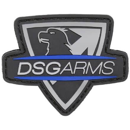 DSG Cut Thru PVC Patch - Black/Blue