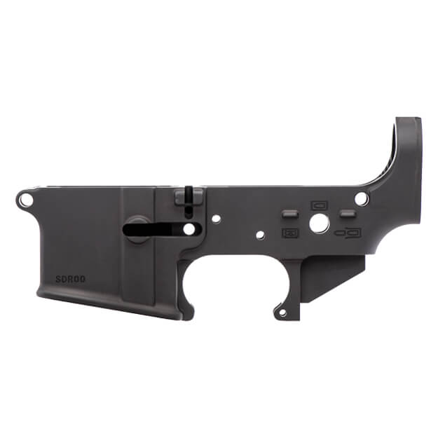 Spikes Tactical Stripped AR15 Lower Receiver w/ No Logo II - Old School