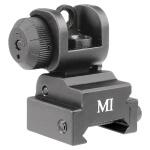 Midwest Industries AR Series Emergency Rear Flip Up Sight - Black