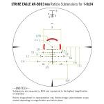 Vortex Strike Eagle 1-8x24 AR-BDC3 Reticle MOA w/ Warne Vapor 30mm 1 Piece MSR Mount