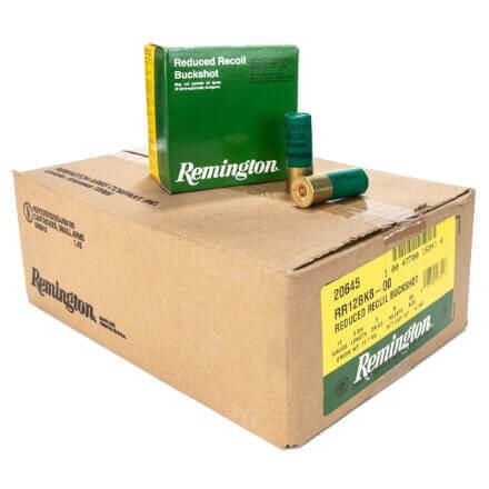 "Remington RR12BK8-00 2 3/4"" Reduced Recoil Buckshot 8 Pellet 25rd Box - 250 Case"