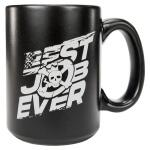 DSG 14oz Coffee Mug - Best Job Ever in Matte Black