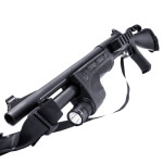 "Remington 870P 14"" Shotgun w/ Surefire Light, Side Saddle & Sling"