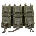 High Speed Gear Adaptable Belt Mounted Triple Pistol Taco - Olive Drab Green